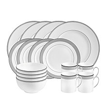 Vera Wang Wedgwood Dinnerware, Grosgrain 16-PC Set