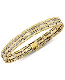 Men's Diamond (1 ct. t.w.) Bracelet in 10k Gold