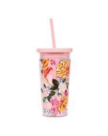ban.do Sip Sip Tumbler With Straw, Garden Party