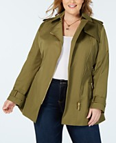 cea03fd6e22c MICHAEL Michael Kors Plus Side-Zip Trench Coat