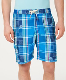 "Tommy Bahama Men's Baja Madras On My Mind Tropical Plaid 9"" Board Shorts"