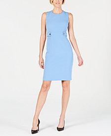 Kasper Petite Tab-Detail Sheath Dress