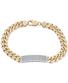 Men's Diamond (1 ct. t.w.) ID Bracelet in 18k Gold-Plated Sterling Silver