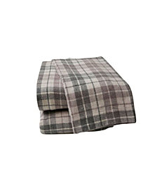 British Peach Plaid Sheet Set King