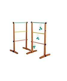 Premium Outdoor Ladderball Game Includes 2 Ladder Target and 6 Golf Ball Bolas