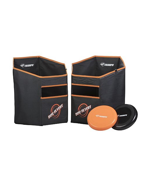 VIVA SOL Triumph Disc Flyerz Backyard Target Game Includes 2 Scoring Cans with Weighted Bases and 2 Flying Discs