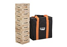 Triumph Fun Size 54 Tumble Strong Stacking Wooden Blocks for Game Nights with Family and Friends