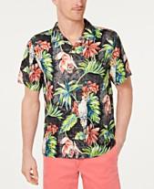 ff2cb9cd Tommy Bahama Men's Tahitian Tweets Classic Fit Hawaiian Silk Camp Shirt