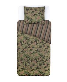 Tadpoles Twin 2 Piece Microfiber Duvet and Pillowcase Set, Dino