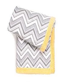 Tadpoles Double Layer Plush Baby Blanket, Chevron