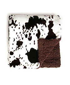 Tadpoles Cowhide Double Layer Baby Blanket