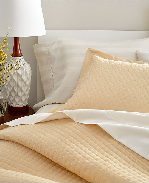 Charter Club Cotton 3 Pc Quilted King Coverlet Created