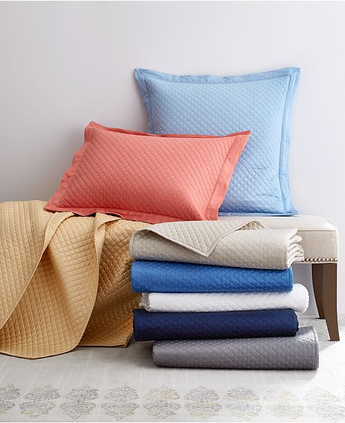 Charter Club Diamond Quilted Coverlet and Sham Cotton Collection, Created for Macy's