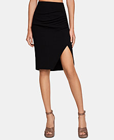 BCBGeneration Faux-Wrap Pencil Skirt