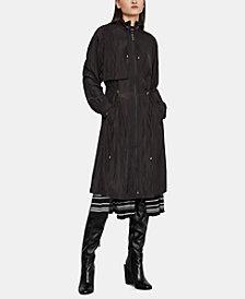 BCBGMAXAZRIA Funnel-Neck Long Coat