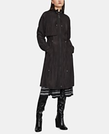 BCBGMAXAZRIA Funnel-Neck Long Coat