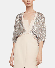 BCBGMAXAZRIA Cropped Sequined Jacket
