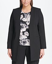 7cb49b0c17d Calvin Klein Plus Size Roll-Sleeve Topper Jacket