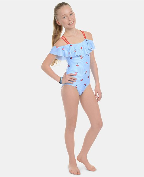 5c896e4a9 Tommy Hilfiger Big Girls Darcia Swimsuit & Reviews - Swimwear - Kids ...