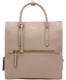 Arlington Court Leather Zip-Top Backpack