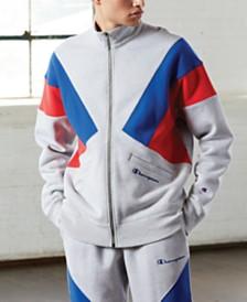 Champion Men's C-Life Reverse Weave Colorblocked Track Jacket
