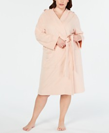 Charter Club Plus Size Knit Terry Cloth Hooded Robe, Created for Macy's