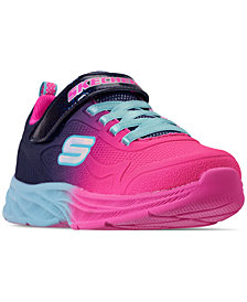Skechers Little Girls' Lite Runner Slip-On Running Sneakers from Finish Line