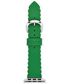 kate spade new york Women's Green Silicone Apple Watch® Strap