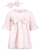 67a3533587 First Impressions Baby Girls Ponté-Knit Dress   Headband Separates