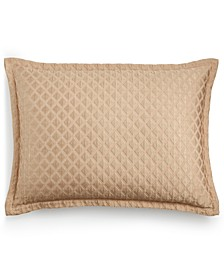 Gold Luxe Border Quilted King Sham, Created for Macy's