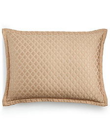 Hotel Collection Luxe Border 170-Thread Count Quilted Standard Sham, Created for Macy's