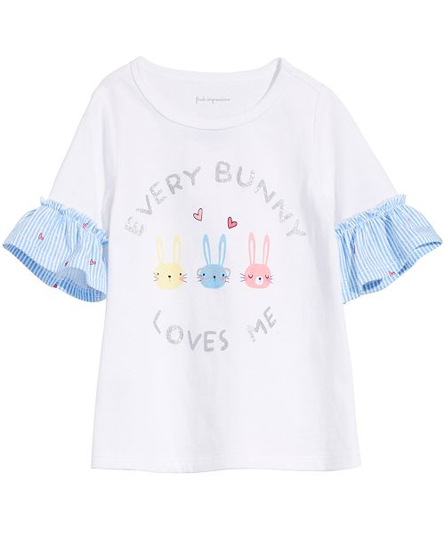 First Impressions Baby Girls Every Bunny Ruffle Top, Created for Macy's