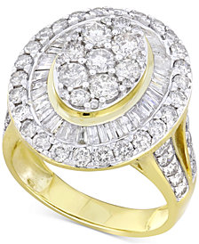 Diamond Halo Ring (3 ct. t.w.)  in 14k Gold or White Gold