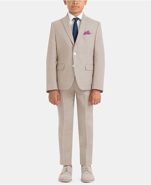 125ad3f3a3 ... Lauren Ralph Lauren Little   Big Boys Solid Linen Suit Jacket   Pants  Separates ...