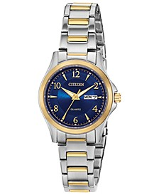 Women's Quartz Two-Tone Stainless Steel Bracelet Watch 28mm