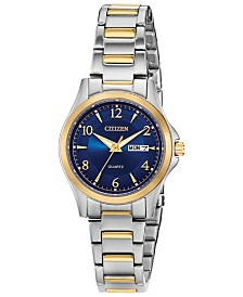 Citizen Women's Quartz Two-Tone Stainless Steel Bracelet Watch 28mm