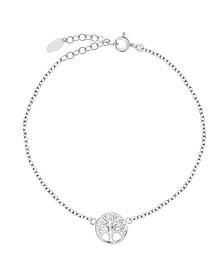 Bodifine Sterling Silver Family Tree Anklet