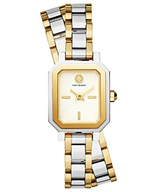 Women's Robinson Two-Tone Stainless Steel Double Wrap Bracelet Watch 22mm