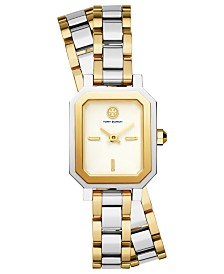 Tory Burch Women's Robinson Two-Tone Stainless Steel Double Wrap Bracelet Watch 22mm