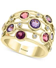 EFFY® Multi-Gemstone (2-1/2 ct. t.w.) & Diamond (1/10 ct. t.w.) Statement Ring in 14 Gold
