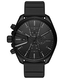 Men's Chronograph MS9 Chrono Black Silicone Strap Watch 48mm