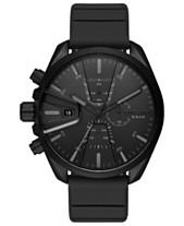 Diesel Men s Chronograph MS9 Chrono Black Silicone Strap Watch 48mm 2ed2d9f66dd