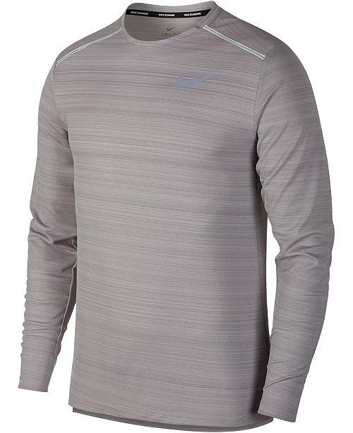 b114051d Nike Men's Miler Dri-FIT Long-Sleeve T-Shirt & Reviews - T-Shirts ...
