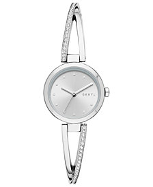 DKNY Women's Crosswalk Stainless Steel Bangle Bracelet Watch 26mm