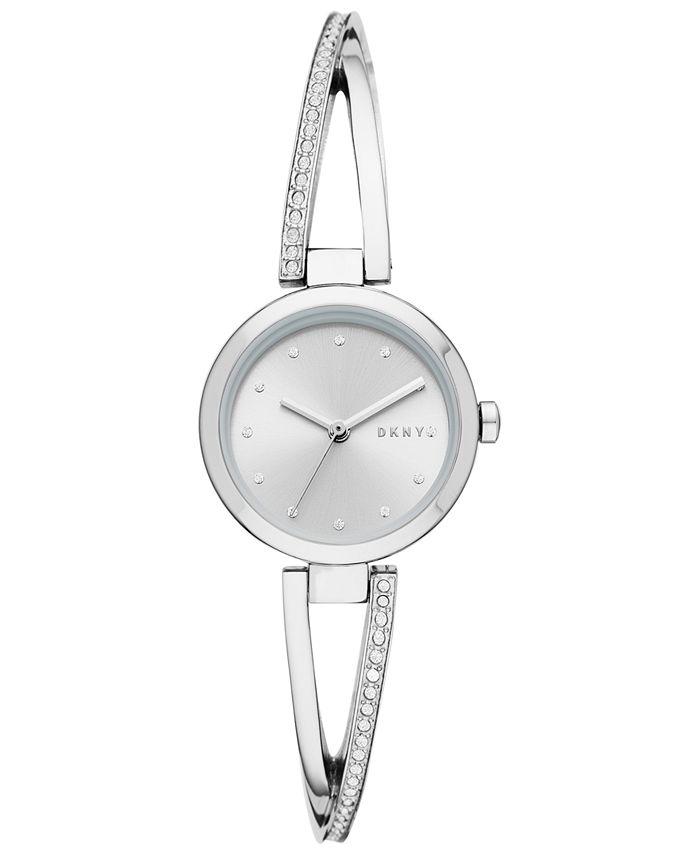DKNY - Women's Crosswalk Stainless Steel Bangle Bracelet Watch 26mm