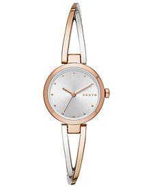 DKNY Women's Crosswalk Two-Tone Stainless Steel Bangle Bracelet Watch 26mm