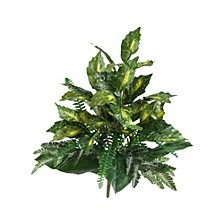 "25"" Mixed Greens Artificial Plant, Set of 2"