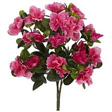 "13"" Azalea Artificial Plant, Set of 4"