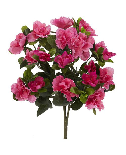 """Nearly Natural 13"""" Azalea Artificial Plant, Set of 4"""