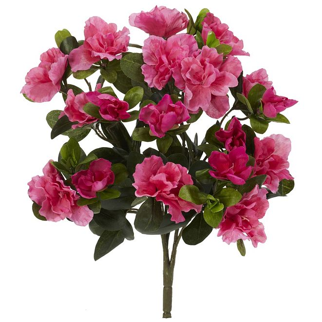 "Nearly Natural 13"" Azalea Artificial Plant, Set of 4"